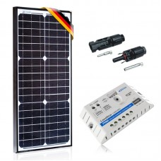 Komplektas saulės baterija 30W Prestige ir krovimo reguliatorius 5A