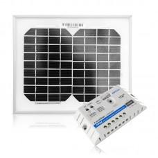 Komplektas saulės baterija 5W Maxx ir krovimo reguliatorius 5A