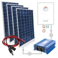 Saulės baterijų komplektas 4x315W Mono vandens šildymui boileriuose su MPPT SOLAR BOOST
