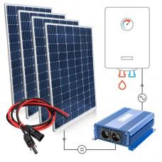 Saulės baterijų komplektas 4x300W Mono vandens šildymui boileriuose su MPPT SOLAR BOOST