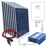 Saulės baterijų komplektas 8x310W Mono vandens šildymui boileriuose su MPPT SOLAR BOOST