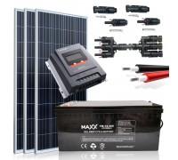 Saulės baterijų komplektas su akumuliatoriumi 0,465 KWH 12V / 200AH