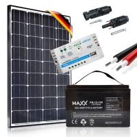 Saulės baterijų komplektas su akumuliatoriumi 100W PRESTIGE 12V / 100AH
