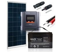 Saulės baterijų komplektas su akumuliatoriumi 155W 12V / 100AH