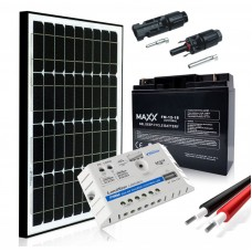Saulės baterijų komplektas su akumuliatoriumi 30W 12V / 18AH