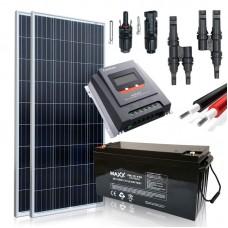 Saulės baterijų komplektas su akumuliatoriumi 310W 12V / 200AH
