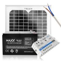 Saulės baterijų komplektas su akumuliatoriumi 5W 12V / 9AH