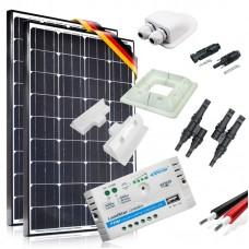 Saulės baterijų komplektas kemperiui 200W Prestige