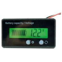 Akumuliatorių įtampos ir įkrovimo lygio indikatorius, 12V LCD