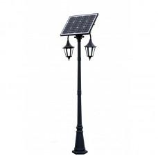 Sodo saulės LED šviestuvas su saulės baterija 30W 14Ah RETRO II - 2.30M