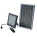 Autonominis LED šviestuvas LED ED30 (30W) + saulės modulis (8W)